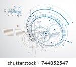 mechanical engineering... | Shutterstock .eps vector #744852547