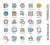 collection of school and... | Shutterstock .eps vector #744856153