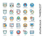 school and education vector... | Shutterstock .eps vector #744856237