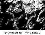 grunge paint texture overlay.... | Shutterstock .eps vector #744858517
