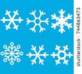 snowflake vector icon... | Shutterstock .eps vector #744863473