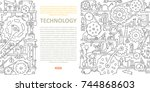 machinery template with space... | Shutterstock .eps vector #744868603