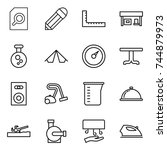 thin line icon set   search... | Shutterstock .eps vector #744879973
