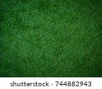 green grass texture | Shutterstock . vector #744882943