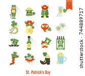 saint patricks day isolated... | Shutterstock .eps vector #744889717