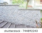 natural stone landscaping in... | Shutterstock . vector #744892243