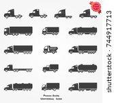 truck icon vector | Shutterstock .eps vector #744917713