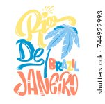 shirt print rio de janeiro... | Shutterstock .eps vector #744922993