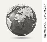vector geometric line  art...   Shutterstock .eps vector #744925987