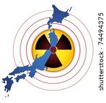vector   japan earthquake ... | Shutterstock .eps vector #74494375