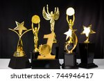 trophy award show your success... | Shutterstock . vector #744946417