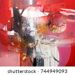 fine art contemporary work  ... | Shutterstock . vector #744949093