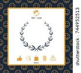 laurel wreath | Shutterstock .eps vector #744952513