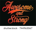 cool awesome slogans typography ... | Shutterstock .eps vector #744963067