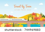 Travel By Train Vector...