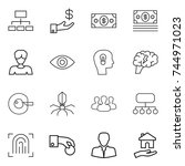 thin line icon set   hierarchy  ... | Shutterstock .eps vector #744971023