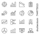 thin line icon set   target... | Shutterstock .eps vector #744975013
