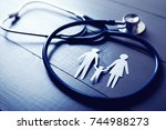 family health care and... | Shutterstock . vector #744988273