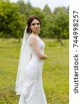 a beautiful married girl in... | Shutterstock . vector #744998257