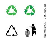 recycling icon. people icon | Shutterstock .eps vector #745002253