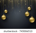 greeting card  invitation with... | Shutterstock .eps vector #745006513