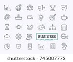 business thin line icons.... | Shutterstock .eps vector #745007773