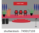 royal theme closing ceremony... | Shutterstock .eps vector #745017133