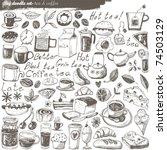 big vector set   kitchen   food | Shutterstock .eps vector #74503129