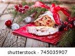 dresdnen stollen is a...   Shutterstock . vector #745035907