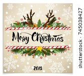 greeting card happy new year... | Shutterstock .eps vector #745038427