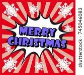 merry christmas. christmas... | Shutterstock .eps vector #745046083