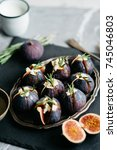 Small photo of Preparation Figs for Baking with Goat Cheese and Honey. Fig Appetizer
