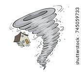 hurricane | Shutterstock .eps vector #745059733