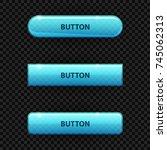 blue aqua buttons for design of ... | Shutterstock .eps vector #745062313