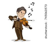 man playing violin | Shutterstock .eps vector #745063573