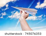 give the career momentum | Shutterstock . vector #745076353