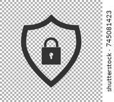 shield security icon. abstract... | Shutterstock .eps vector #745081423