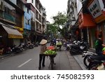vietnamese street   april 8 ... | Shutterstock . vector #745082593
