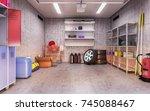 garage interior 3d illustration