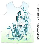 t shirt  temlate graphic ... | Shutterstock .eps vector #745089313