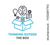 thinking outside the box... | Shutterstock .eps vector #745089793