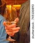 vine glass | Shutterstock . vector #745100893