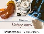 diagnosis kidney stones photo....   Shutterstock . vector #745101073