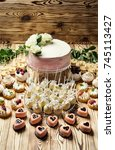 candy bar decorated by... | Shutterstock . vector #745113427