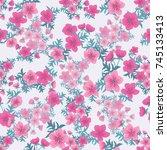 tracery pattern in mini... | Shutterstock .eps vector #745133413