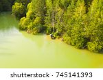 aerial view of clear beautiful... | Shutterstock . vector #745141393
