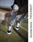 milan  italy   september 28 ... | Shutterstock . vector #745144027