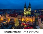 prague  czech republic  ... | Shutterstock . vector #745144093