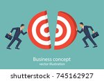 business concept. two... | Shutterstock .eps vector #745162927