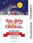 christmas party invitationcard... | Shutterstock .eps vector #745168417